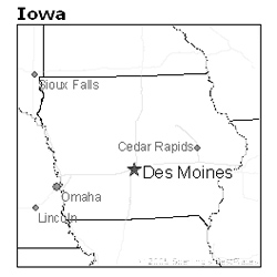 location of Des Moines, Iowa