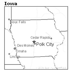 location of Polk City, Iowa
