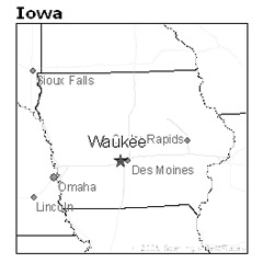 Waukee, Iowa, map