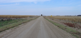 Sheila's body was found by this gravel road (photo by Neal Bowers, 2009)